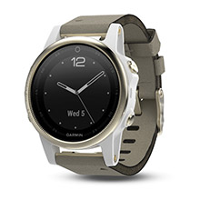 GARMIN Fenix 5s Champagne Sapphire with Gray Suede Band