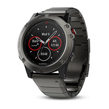 GARMIN Fenix 5X Slate Gray Sapphire with Metal Band