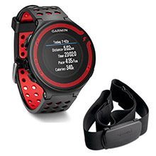 GARMIN Forerunner 220 Black and Red With Premium HRM
