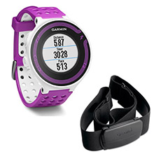 GARMIN Forerunner 220 White and Violet With Premium HRM