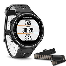 GARMIN Forerunner 230 Black and White with HRM