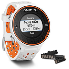 GARMIN Forerunner 620 White and Orange with HRM%2DRun