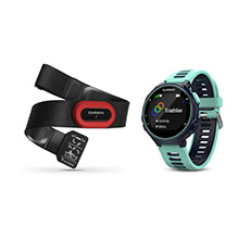 GARMIN Forerunner 735XT Run Bundle Midnight Blue Forest Blue