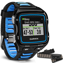 GARMIN Forerunner 920XT Black and Blue with HRM%2DRun