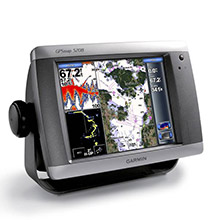 Shown on photo GARMIN GPSMAP 5208 Chartplotter, a good candidate for Marine Command Center Architecture design.