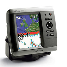GARMIN GPSMAP 555s with transducer - AUS