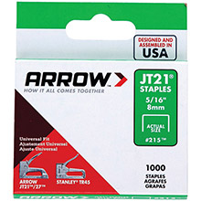 ARROW Thin Wire Staples, 1,000 pk (5/16in)