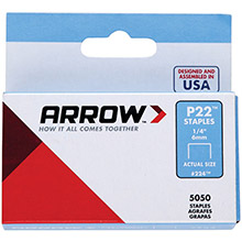 ARROW Plier Staples, 5,000 pk (1/4in)