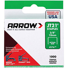 ARROW Thin Wire Staples, 1,000 pk (3/8in)