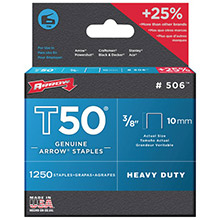 ARROW T50 Staples, 1,250 pk (3/8in)