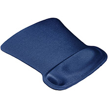 ALLSOP Ergoprene Gel Mouse Pad with Wrist Rest (Blue)