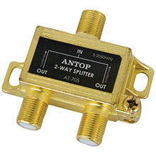 ANTOP ANTENNA INC. 2-Way 2GHz Low-Loss Coaxial Splitter