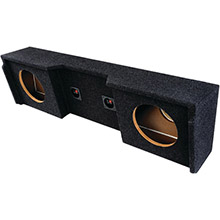 ATREND BBox Series Subwoofer Box for GM Vehicles (12in Dual Downfire)