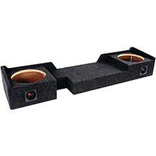 ATREND BBox Series 10in Subwoofer Box for Ford Vehicles (Dual Downfire)