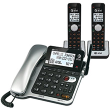 AT&T DECT 6.0 Corded/Cordless 2-Handset Phone System with Call Waiting/Caller ID,