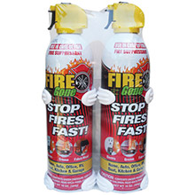 FIRE GONE Fire Suppressants with Bracket, 2 pk