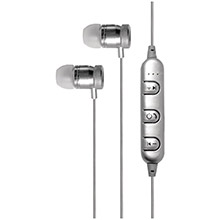 BILLBOARD Bluetooth Metal Earbuds with Microphone (Silver)