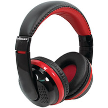 BILLBOARD Bluetooth Over-Ear Foldable Headphones with Microphone (Red)
