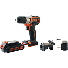 BLACK & DECKER 20-Volt MAX Lithium Drill/Driver with AutoSense Technology