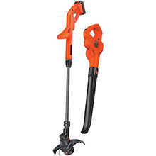 BLACK & DECKER 20-Volt MAX Lithium 10in String Trimmer/Edger, Hard Surface Sweeper Combo Kit