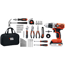 BLACK & DECKER 20-Volt MAX Lithium Drill/Driver, 68-Piece Project Kit