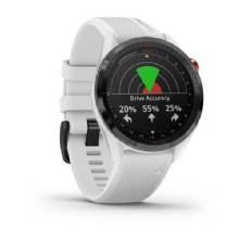 GARMIN Approach S62 %2D Black Ceramic Bezel with White Silicone Band