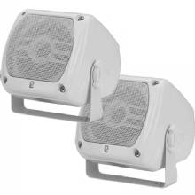 POLYPLANAR 4x4inch compact box speaker white 40 watt