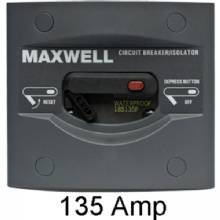 Maxwell Breaker, with on/off panel, 135 amp