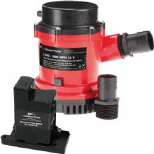 JOHNSON PUMP Hd bilge pump 1600 gph, w/em switch, 24v