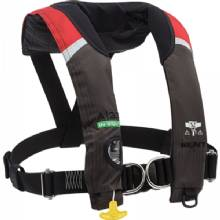 ONYX OUTDOOR M-33 man. inflate lifevest, red, harness