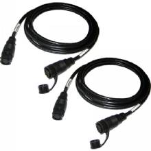 LOWRANCE Transducer extension cables, 12 pin, 10ft, pair
