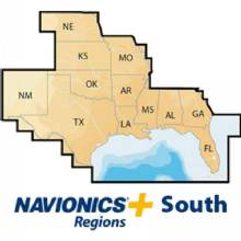 NAVIONICS Navionics plus south, cf, lakes coast