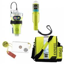 ACR ELECTRONICS Epirb safety kit 2 w/globalfix v4 cat ii, rapidditch express bag, c-strobe h20, and hotshot mirror whistle