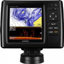 GARMIN echoMAP CHIRP 55cv with ClearVu Transducer and LakeVu HD maps for Canada