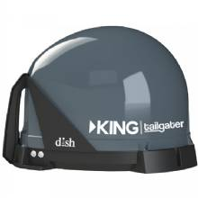 KING Tailgater Portable HD Satellite TV Antenna %2D Remanufactured %2D Full 2%2DYear Warranty