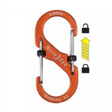 NITE IZE S-Biner Slidelock Aluminum - 3 - Orange