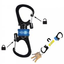 NITE IZE Slidelock 360,deg- Magnetic Locking Dual Carabiner - Blue