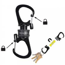 NITE IZE Slidelock 360,deg- Magnetic Locking Dual Carabiner - Charcoal