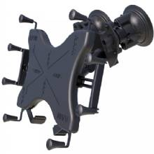 RAM Mount Dual Articulating Suction Cup w/Medium Arm X-Grip Cradle f/12inch Large Tablets