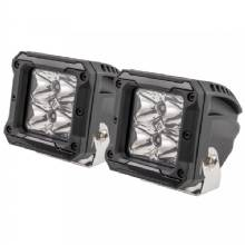 HEISE 4 LED Cube Light w/Harness - Spot Beam- 3inch - 2 Pack