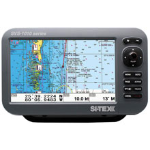 SI%2DTEX SVS%2D1010C 10inch Chartplotter w and Internal GPS Antenna Navionics Card
