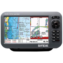 SI%2DTEX SVS%2D1010CF 10inch Chartplotter and Sounder Combo w and Internal GPS Antenna Navionics Card
