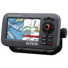 SI%2DTEX SVS%2D560CF%2DE Chartplotter %2D 5inch Color Screen w and External GPS Navionics Flexible Coverage