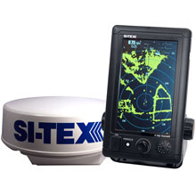 SI-TEX T-761 Compact Color Radar w/4kW 24inch Dome - 7inch Touchscreen
