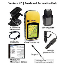 GARMIN ETrex Venture HC Roads And Recreation Pack