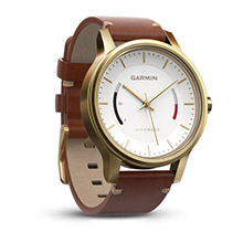GARMIN Vivomove Premium Gold%2Dtone Steel Leather