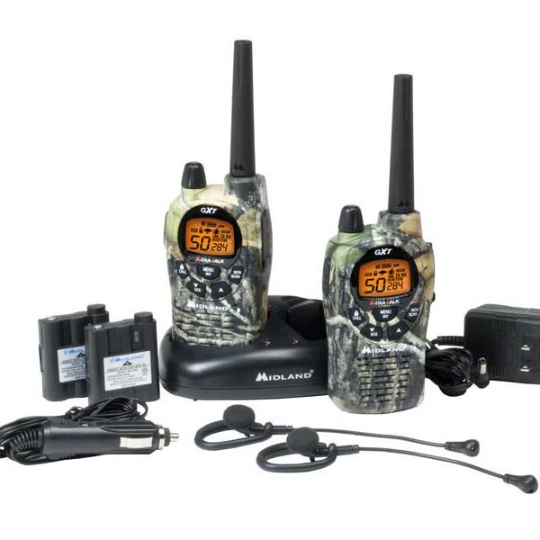 Midland 2-way GXT1050VP4 weather hazard portable radio set of two