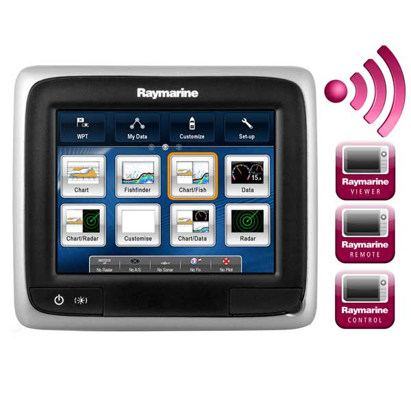 Raymarine A65 5 7 Inch Mfd Touchscreen Display W Wi Fi Lighthouse Navigation Charts Noaa Vector