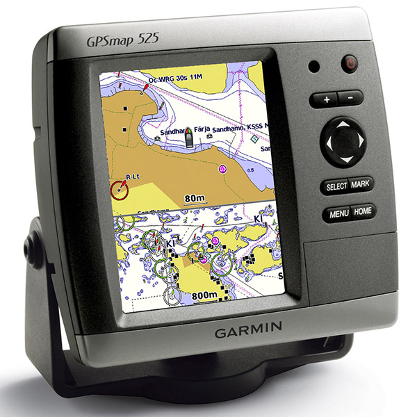 garmin gpsmap 525 marine command center GPS chartplotter with transducer